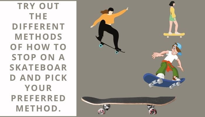 learn how to stop on a skateboard